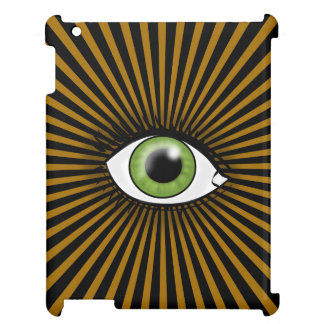 Solar Green Eye iPad Cover