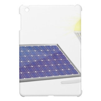 Solar panel and light bulb iPad mini cover