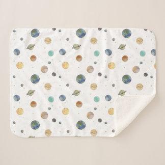 Solar System Baby Sherpa Blanket