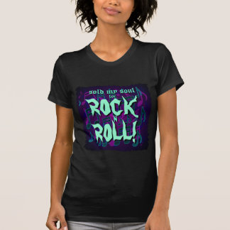 Sold My Soul For Rock N Roll Purple Blue Green Shirt