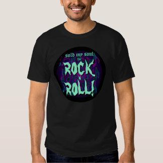 Sold My Soul For Rock N Roll Purple Green Tshirt