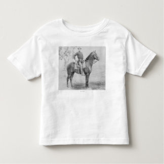 Soldier on His Horse in South Dakota Photograph Toddler T-Shirt