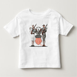 Soldier, Sailor and U.S. Shield Tshirts