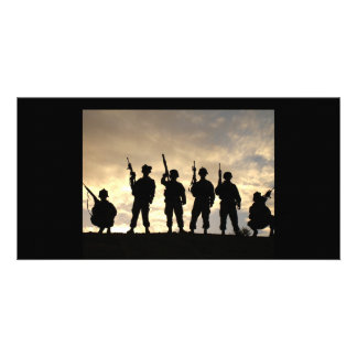 Soldier Silhouettes Picture Card