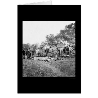 Soldiers' Burial at Fredericksburg, Virginia 1864 Card