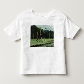 Soldiers Cutting Branches by a River (oil on canva Tee Shirt