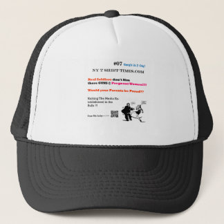 Soldiers don't Aim  there GUNS @ Pregnant Women Trucker Hat