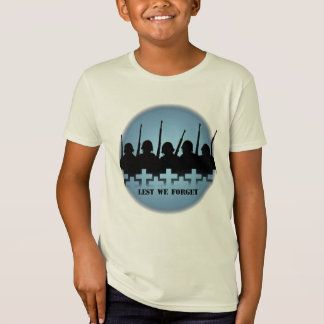 Soldiers Kid's T-shirts War Peace Lest We Forget