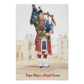 Soldiers of the Queen, Pipe Major, Royal Scots Poster
