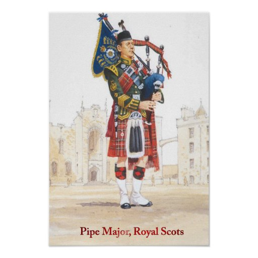 Soldiers of the Queen, Pipe Major, Royal Scots Print