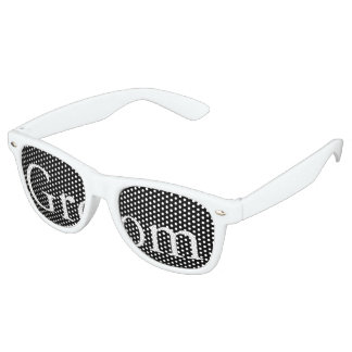 Solid Black with White Wedding Detail Retro Sunglasses