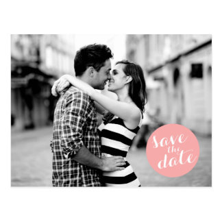 SOLID CIRCLE | SAVE THE DATE ANNOUNCEMENT POSTCARD