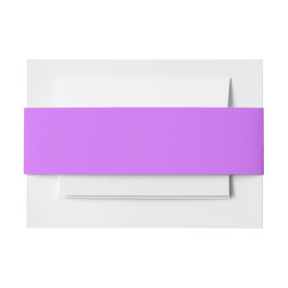 Solid Color: Lilac Purple Invitation Belly Band