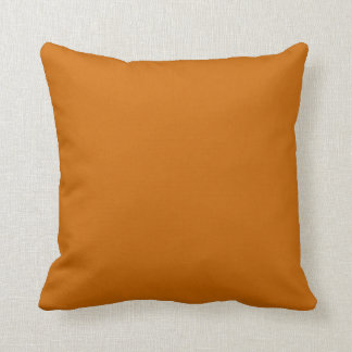 Solid colored rust brown orange  pillow cushion