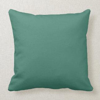 Solid Deep aquamarine Background Cushion