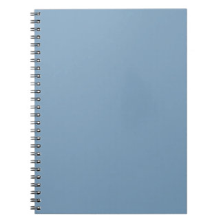 Solid Dusk Blue Notepad Spiral Notebook