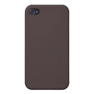 Solid French Roast Brown iPhone 4 Cases