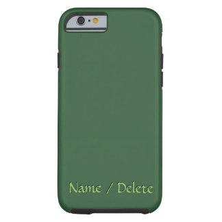 Solid Hunter Green Personalized Tough iPhone 6 Case