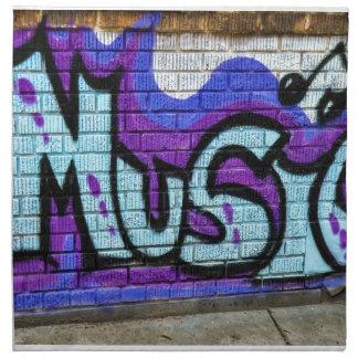 Solid Music Philadelphia Art Graffiti - Just one o Napkin