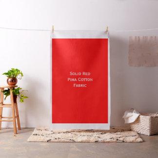 Solid Red Pima Cotton Custom Fabric #FF0000