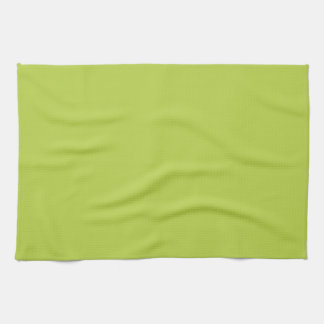 Solid Tender Shoots Green Kitchen Towel
