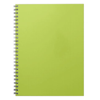 Solid Tender Shoots Green Notepad Spiral Note Book
