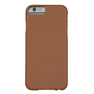 Solid Umber Brown Barely There iPhone 6 Case