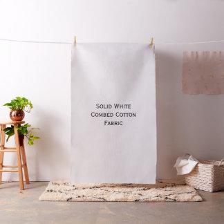 Solid White Combed Cotton Custom Fabric #FFFFFF