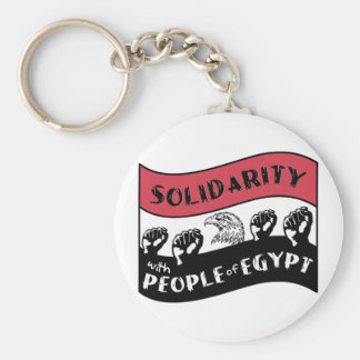 Solidarity with People of Egypt Basic Round Button Key Ring