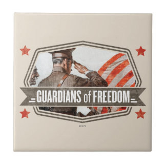 Solider-Guardian of Freedom Small Square Tile