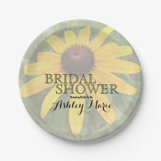 Solo Rudbeckia Close-Up Photograph | Bridal Shower Paper Plate