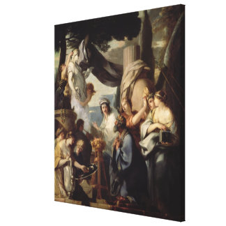 Solomon making a sacrifice to the idols canvas print