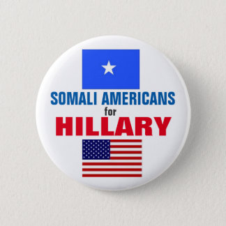 Somali Americans for Hillary 2016 6 Cm Round Badge