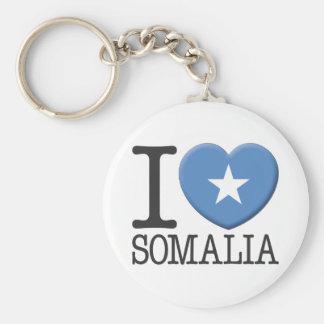 Somalia Basic Round Button Key Ring