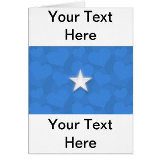 Somalia Heart Flag Card