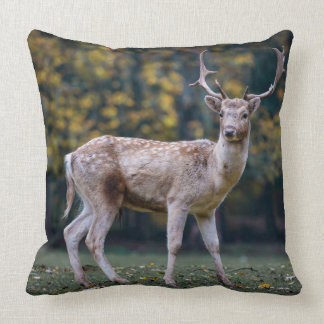 Somber Deer Throw Pillow
