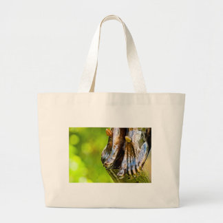 some believe in green large tote bag