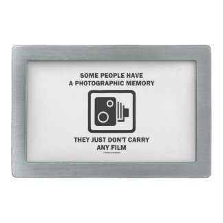 Some People Have A Photographic Memory (Camera) Rectangular Belt Buckle