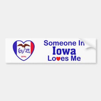 Someone In Iowa Loves Me Bumper Sticker