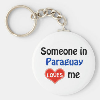 Someone in Paraguay Loves me Key Ring