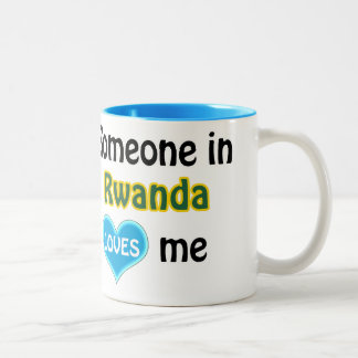 Someone in Rwanda loves me Two-Tone Coffee Mug