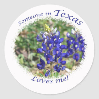 Someone in Texas Loves Me Gift Classic Round Sticker