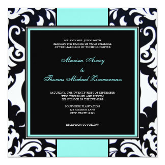 Something Blue 13 Cm X 13 Cm Square Invitation Card