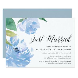 Something Blue   Post Wedding Brunch Invitation