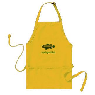 something smells fishy adult apron