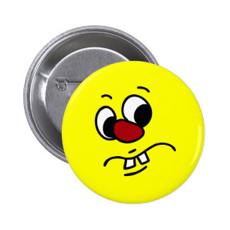 Something Stinky Smiley Face Grumpy 6 Cm Round Badge
