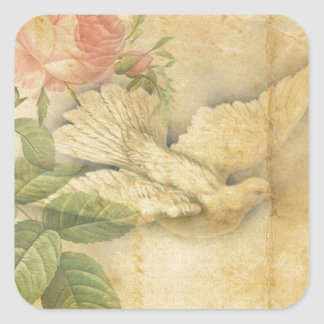 Song Bird Bring Peace Square Sticker