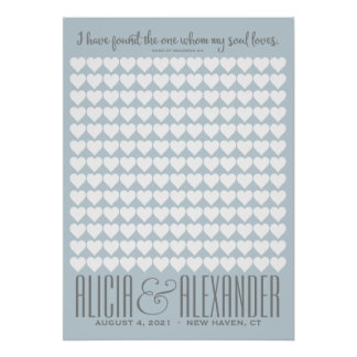 Song of Solomon CUSTOM COLOR | Wedding Guestbook