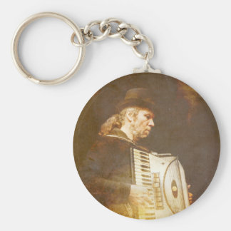 Song of the Gypsy King Basic Round Button Key Ring