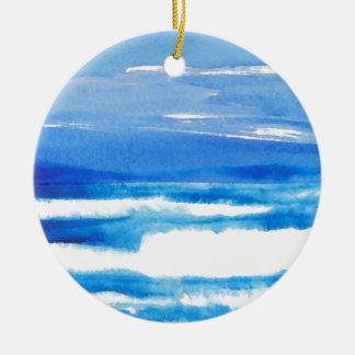 Song of the Seashore - CricketDiane Ocean Waves Christmas Ornament